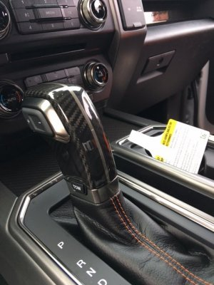 Orange Interior Accent W Carbon Fiber Gen 2 Ford Raptor